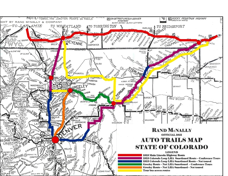 Lincoln Highway Association Conference - Map of colorado highways