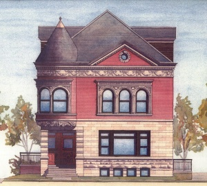 [Artist's image of the Remedy Building]
